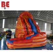 24 Foot Tall Adult Inflatable Curve volcano Water Slide