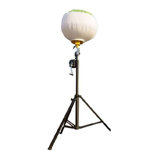 400W led manual lifting tripod balloon light tower mast for emergency rescue and led lighting camp