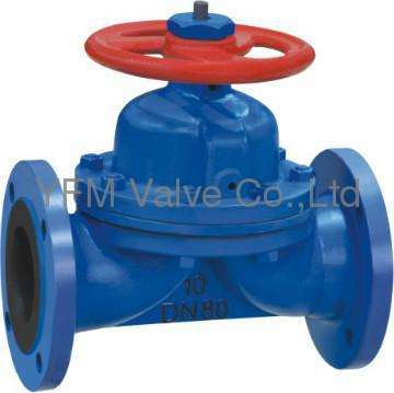 Manual Rubber lined Weir Diaphragm Valve Like
