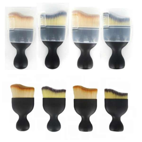 热卖新颜刷红酒杯形手柄基础轮廓曲线化妆刷