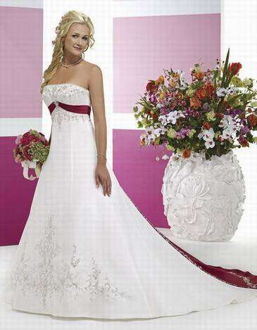A-Line Strapless Chapel Train Satin Bridal Gown