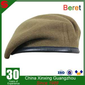 1110955189456 High Quality Army 70-85 Grams 100% Wool Men's Custom Military Beret In  Different Color