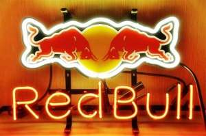 "T717 Red Bull Redbull Energy Drink Real Glass Tube Neon Light Bar Sign 17*14"" inch"
