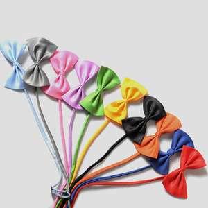 热销纯色提花领结廉价多彩休闲蝴蝶领结