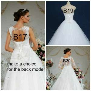Sexy V Nexck Lace Appliques Top Princess Tulle Skirt Lace Up Back Ball Gown Wedding Dresses