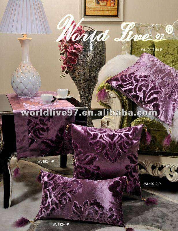 Purple Fancy Sofa Cushions Chair Decorative Cushions And Pillows
