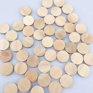 最受欢迎的婴儿出牙DIY婴儿玩具20毫米天然圆木珠