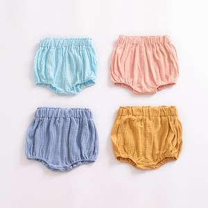 棉质婴儿短裤女孩舒适短裤儿童灯笼裤M8071003