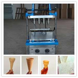 Superior Ice Cream Cone In Snack Machine Stainless Steel Ice Cream Cone Making Equipment New Condition
