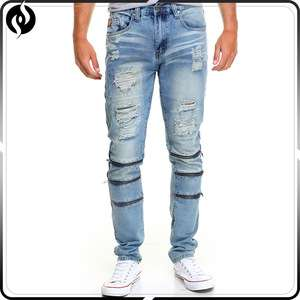 2018 China wholesale fashion denim trouser / blue custom designers men jeans