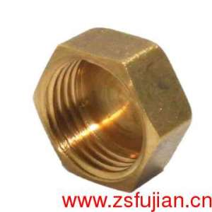 Brass Fitting 3/8 in. Brass Compression Pipe Cap Like