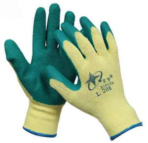10gauge poly/cotton latex coated gloves
