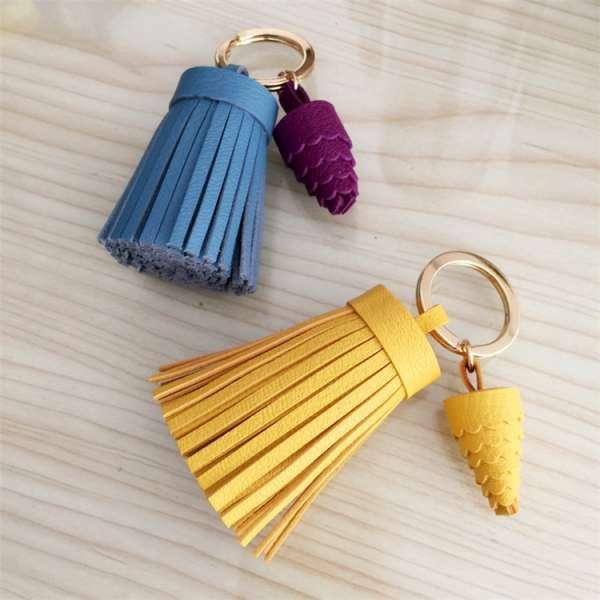 Custom Leather Tassel Keychain
