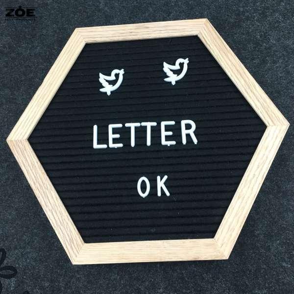 Oak Wood Frame Felt Letter Board 1010 Inch