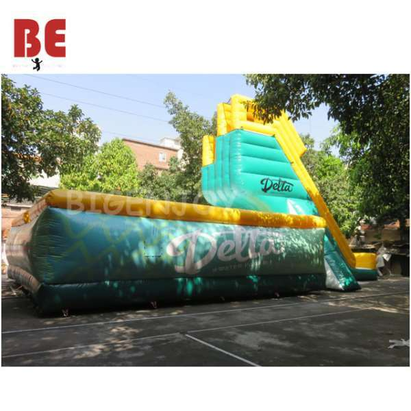 Inflatable jumping tranpoline jump air bag with jump stair