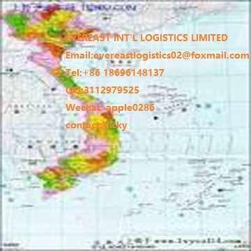 经验丰富的国际海运费从广州深圳胡志民越南。海运货物从中国海防