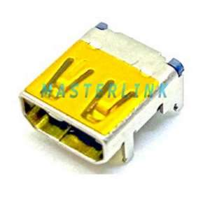 HDMI D Type Female Connector, Top Mount, Shell DIP, Solder Tail DIP+SMT