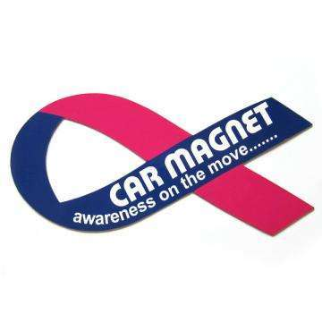 Magnetic car stickers promotional item gift public service ads ribbon like
