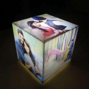 Personalised Cube Lamp