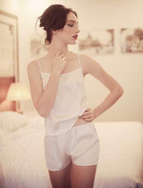 睡衣套装短裤/女式丝绸睡衣套装/丝绸睡衣/睡衣套装/女式睡衣