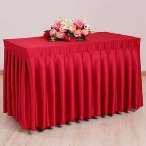 彩色绒布灯芯绒绒布方桌婚纱