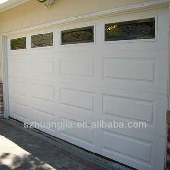 Remote Galvanized Steel Garage Door Windows That Open