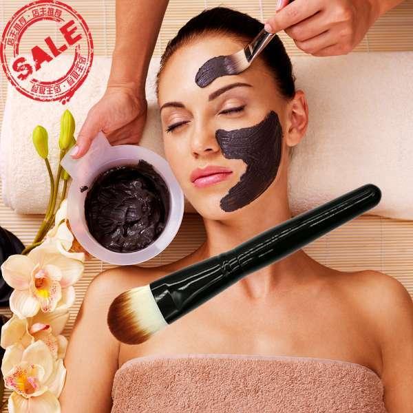 专业高质量二调软合成木柄粉底化妆刷