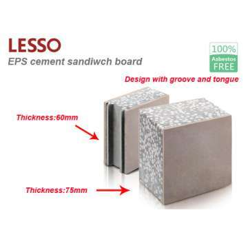 50mm 75mm Thickness Cement Sandwich Panel For Interior