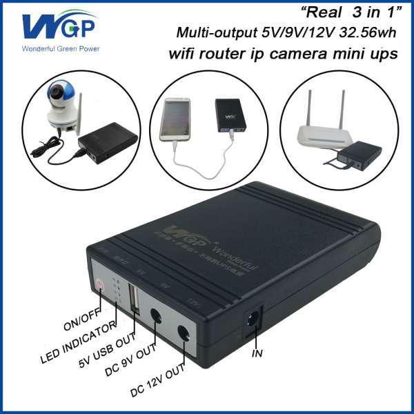Home Use Mini Ups 12V 1A Output Li Ion Battery Cell Power Dc