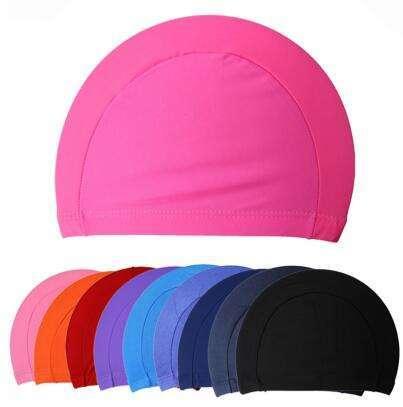 Fabric Protect Ears Long Hair Sports Swim Pool Swimming Cap Hat Adults Men Women Sporty Ultrathin Adult Bathing Caps Free Size