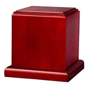 PY17 - Square Tower Pet Urn - Birch / Cedar / Oak Wooden Urn Boxes - Natural & Cherry Finish