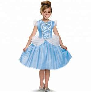 Blue Children/'s Party Dress Costume Dress Kids Fancy Dress Princess Themed Dress