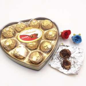 新产品12件心形盒包装巧克力