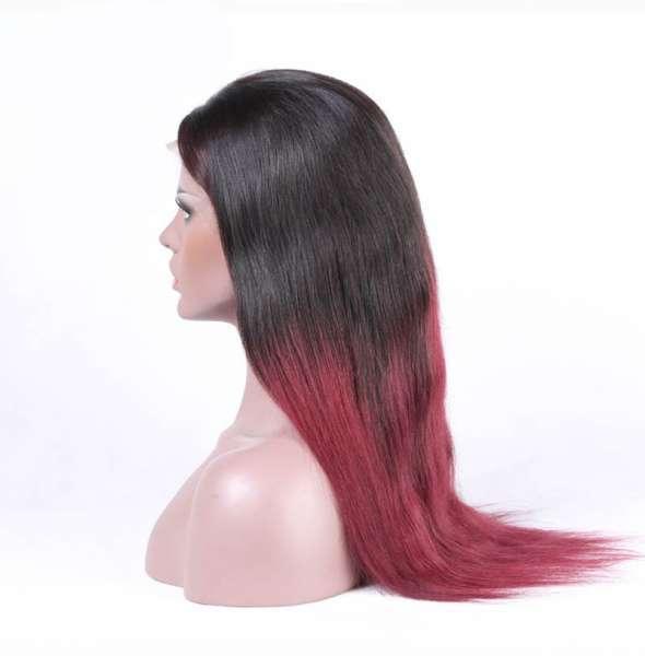 Lace Wigs Silky Straight Virgin Human Hair Ombre Human Hair Wigs Lace Wigs for Women Natural Hairline wigs003
