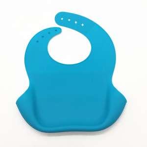 软硅胶婴儿围嘴FDA LFGB婴儿硅胶围嘴制造商带口袋