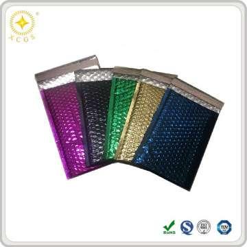 Shiny decorative metalic foil film color bubble mailer