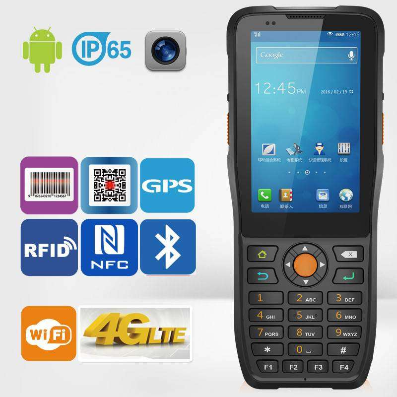 IP65 Rugged Type 1D Barcode Reader Android Handheld PDA