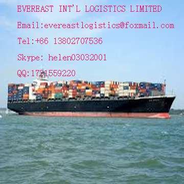 负责货运是从中国到乌拉圭蒙得维的亚