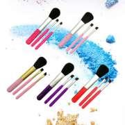 Most Popular 3pcs colorful mini make up brush set for cosmetic Kit