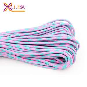 野营徒步旅行用多色编织登山绳