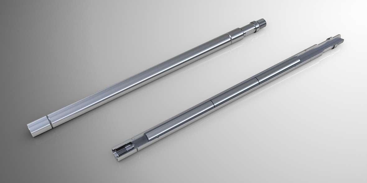 Tungsten stem for oil detection