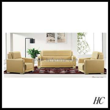 Leather Sofa Wooden Reception Sofas