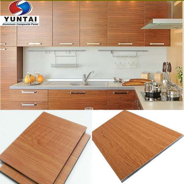 China Supplier Aluminum Composite Panel ACP Sheet For Kitchen Cabinet
