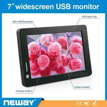 Touchscreen TFT LCD Roof Mounted 7 Inch Car TV Monitor With USB