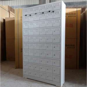 Office furniture 60 compartment metal storage units for mobile phone