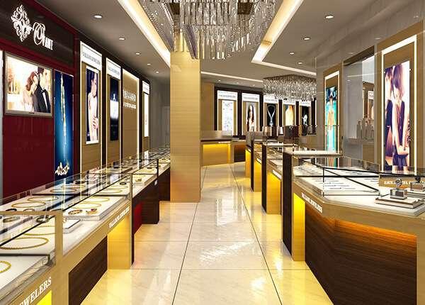 gold shop interior design ideas