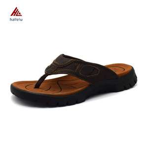 b4761c33afdf2f High Quality Indoor Full Grain Genuine Leather Southeast Aisa Casual Men Flip  Flop Slippers