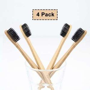 FDA&CE 100% Natural Soft Home Use Bristle Bamboo Charcoal Toothbrush For Private Label
