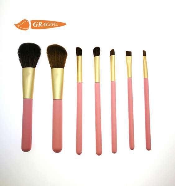 美容化妆工具粉红可爱化妆刷套