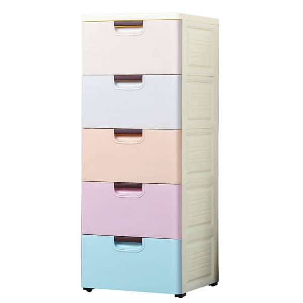 Drawer Type Plastic Storage Cabinet Clothes
